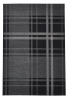Breeze 6639 Black/grey Flatweave Machine Made Rug - 100% Polypropylene
