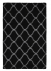 Elements El 65 Black Modern Hand Tufted Rug - 100% Wool