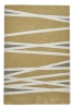 Elements El61 Yellow Modern Hand Tufted Rug - 100% Wool