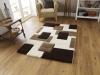 Fashion 7646 Ivory/brown Modern Machine Made Rug - 100% Polypropylene