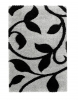 Fashion 7647 Grey/black Modern Machine Made Rug - 100% Polypropylene