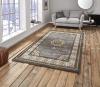 Heritage 4400 Silver Traditional Machine Made Rug - 100% Polypropylene