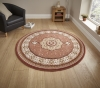 Heritage 4400 Terra Circle Traditional Machine Made Rug - 100% Polypropylene