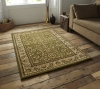 Heritage 993 Green Traditional Machine Made Rug - 100% Polypropylene