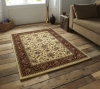 Heritage 993 Ivory/red Traditional Machine Made Rug - 100% Polypropylene