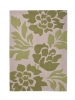 Hong Kong 33l Beige/green Modern Floral Hand Tufted Rug - 100% Acrylic