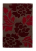 Hong Kong 33l Brown/red Modern Floral Hand Tufted Rug - 100% Acrylic