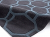 Hong Kong 4338 Charcoal/blue Modern Hand Tufted Rug - 100% Acrylic
