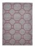 Hong Kong 4338 Grey/rose Modern Hand Tufted Rug - 100% Acrylic