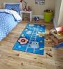 Hong Kong 5648 Blue Kids Hand Tufted Rug - 100% Acrylic