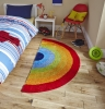 Hong Kong 6083 Rainbow Kids Hand Tufted Rug - 100% Acrylic