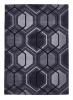 Hong Kong 7526 Charcoal Modern Hand Tufted Rug - 100% Acrylic