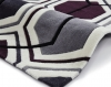 Hong Kong 7526 Cream/dark Purple Modern Hand Tufted Rug - 100% Acrylic