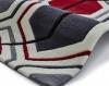 Hong Kong 7526 Cream/red Modern Hand Tufted Rug - 100% Acrylic