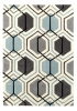 Hong Kong 7526 Grey/blue Modern Hand Tufted Rug - 100% Acrylic
