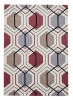 Hong Kong 7526 Grey/peach Modern Hand Tufted Rug - 100% Acrylic
