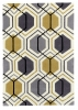 Hong Kong 7526 Grey/yellow Modern Hand Tufted Rug - 100% Acrylic