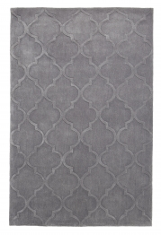 Hong Kong 8583 Silver Modern Hand Tufted Rug - 100% Acrylic