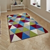 Hong Kong Hk6809 Multi Modern Floral Hand Tufted Rug - 100% Acrylic