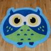 Hong Kong Owl Blue Kids Hand Tufted Rug - 100% Acrylic
