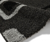 Majesty 2751 Black/grey Shaggy Machine Made Rug - 100% Polypropylene
