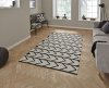 Manhattan Mh210b Black/white Flatweave Durrie Loom Woven Rug - 100% Cotton