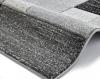 Matrix A0221 Black Floral Machine Made Rug - 100% Polypropylene