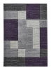 Matrix A0221 Grey/lilac Floral Machine Made Rug - 100% Polypropylene