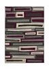 Matrix Fr 40 Grey/purple Modern Machine Made Rug - 100% Polypropylene