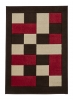 Matrix Jr04 Brown/red Floral Machine Made Rug - 100% Polypropylene