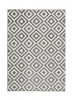 Matrix Mt 89 Grey/white Floral Machine Made Rug - 100% Polypropylene