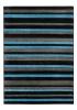 Matrix Mt22 Black/blue Modern Machine Made Rug - 100% Polypropylene