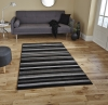 Matrix Mt22 Black/grey Modern Machine Made Rug - 100% Polypropylene