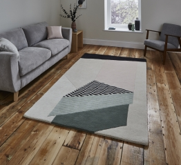 Michelle Collins Mc14 Designer Hand Tufted Rug - 100% Wool