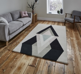 Michelle Collins Mc19 Designer Hand Tufted Rug - 100% Wool