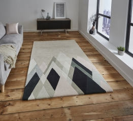 Michelle Collins Mc21 Designer Hand Tufted Rug - 100% Wool