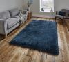 Montana Steel Blue Shaggy Hand Tufted Rug - 75% Acrylic, 25% Polyester