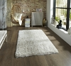 Monte Carlo Cream Shaggy Hand Tufted Rug - 60% Acrylic, 40% Viscose