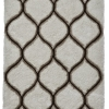 Noble House Nh30780 Cream/brown Shaggy Hand Tufted Rug - 70% Acrylic 30% Polyester