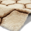 Noble House Nh30782 Cream/brown Shaggy Hand Tufted Rug - 70% Acrylic 30% Polyester
