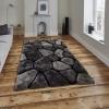Noble House Nh5858 Black/grey Shaggy Hand Tufted Rug - 70% Acrylic 30% Polyester