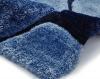 Noble House Nh5858 Blue Shaggy Hand Tufted Rug - 70% Acrylic 30% Polyester
