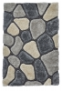 Noble House Nh5858 Grey/blue Shaggy Hand Tufted Rug - 70% Acrylic 30% Polyester