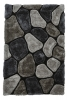 Noble House Nh5858 Grey/cobalt Shaggy Hand Tufted Rug - 70% Acrylic 30% Polyester
