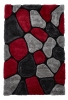 Noble House Nh5858 Grey/red Shaggy Hand Tufted Rug - 70% Acrylic 30% Polyester