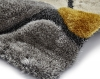 Noble House Nh5858 Grey/yellow Shaggy Hand Tufted Rug - 70% Acrylic 30% Polyester