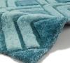 Noble House Nh8199 Blue Shaggy Hand Tufted Rug - 70% Acrylic 30% Polyester