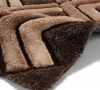Noble House Nh8199 Brown Shaggy Hand Tufted Rug - 70% Acrylic 30% Polyester
