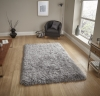 Polar Pl 95 Light Grey Shaggy Hand Tufted Rug - 100% Micro Fibre Acrylic