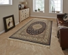 Regal 0227a Navy Traditional Machine Made Rug - 100% Polypropylene
